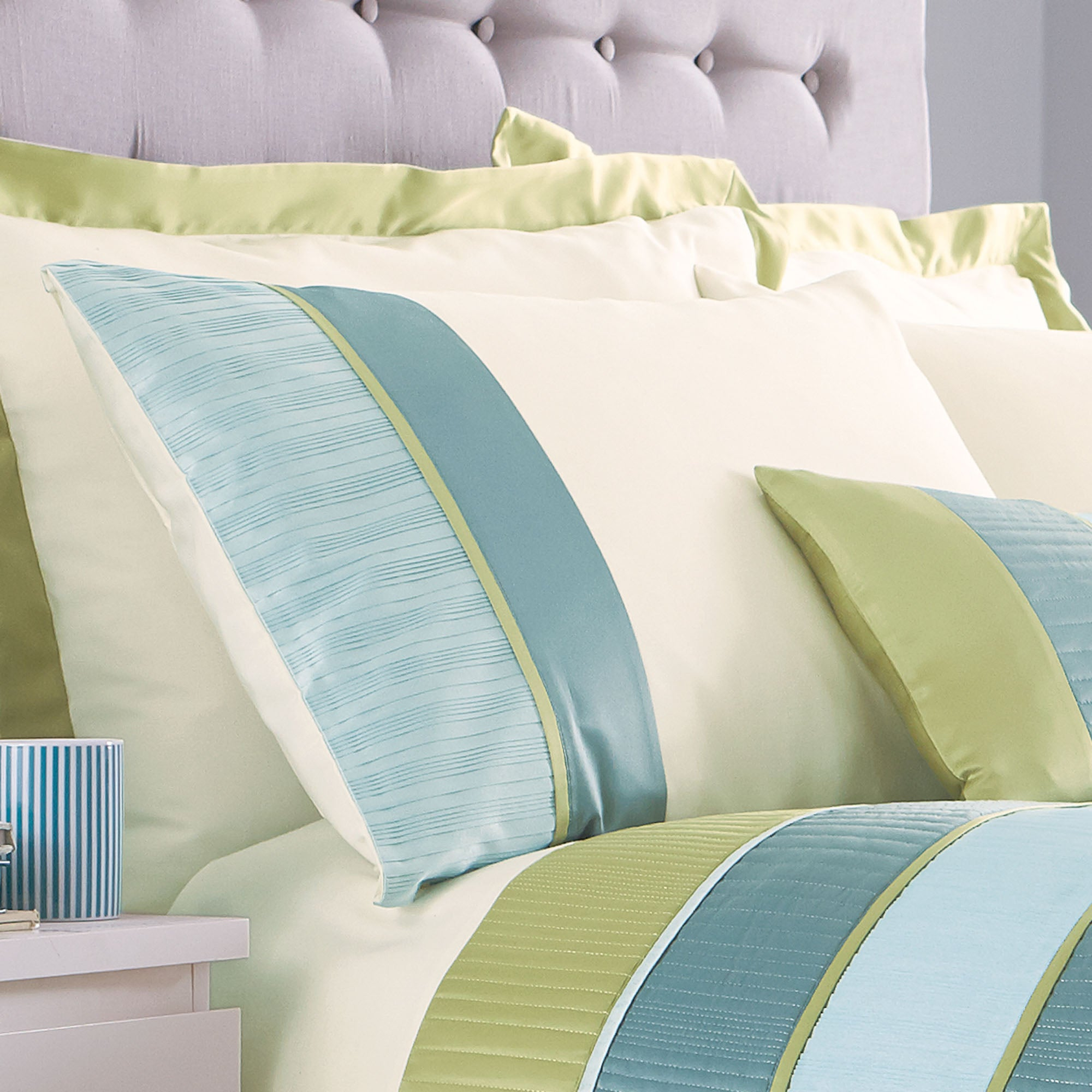 Teal Clermont Collection Housewife Pillowcase