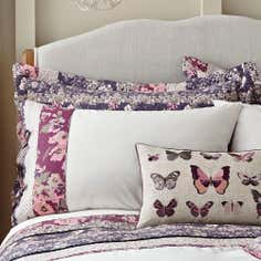Mauve Flora Patchwork Collection Housewife Pillowcase