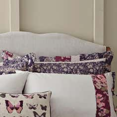 Mauve Flora Patchwork Collection Oxford Pillowcase