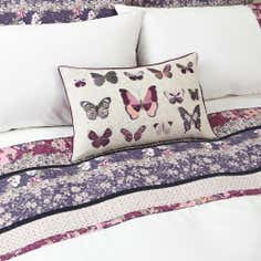 Mauve Flora Patchwork Collection Boudoir Cushion