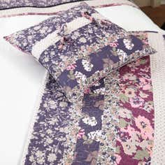 Mauve Flora Patchwork Collection Cushion