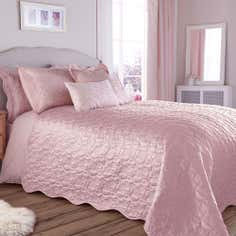 Dusky Pink Florentine Collection Bedspread