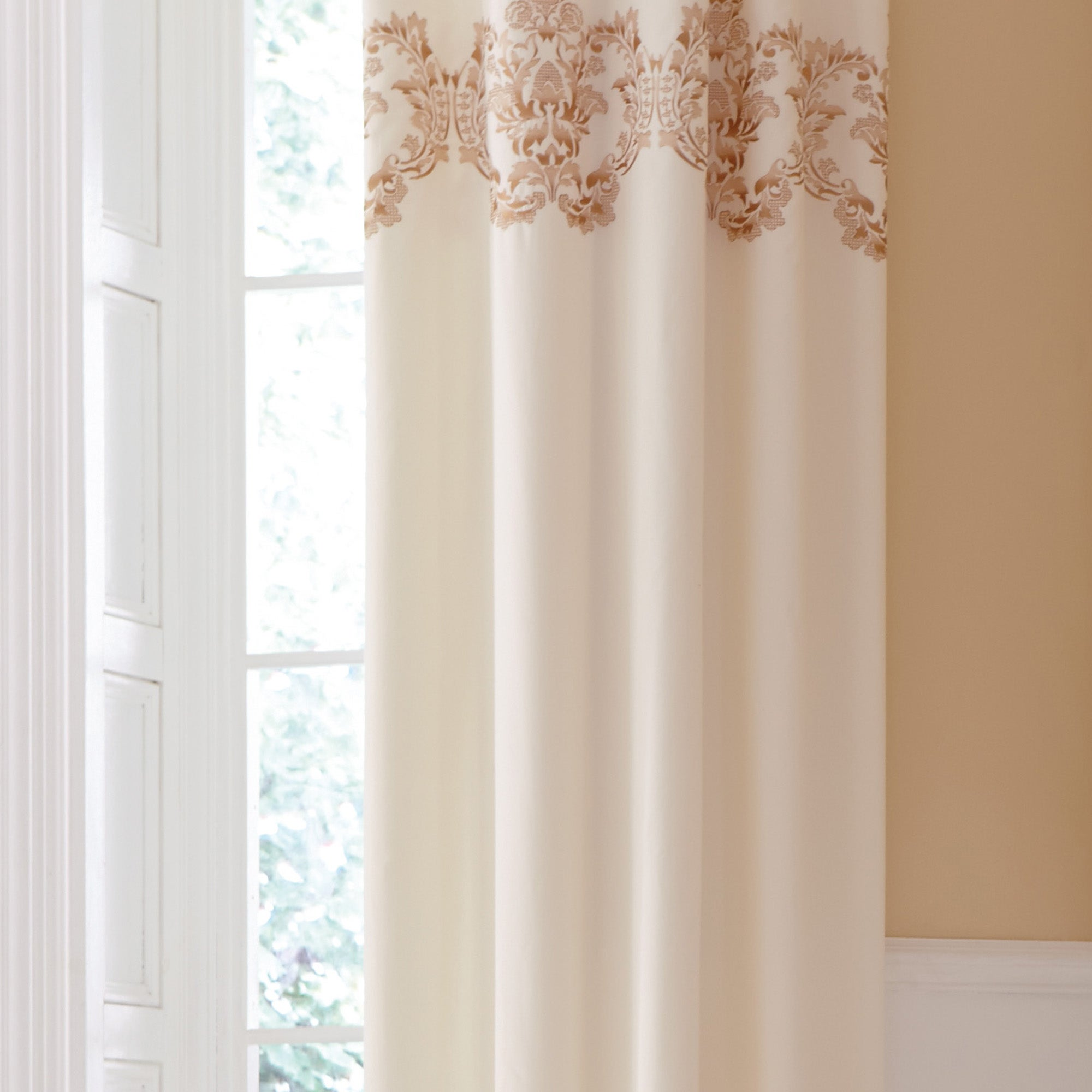 Gold Nina Thermal Eyelet Curtains