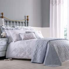 Silver Nina Collection Duvet Cover