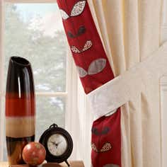 Terracotta Naya Spice Lined Eyelet Curtains