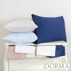 Dorma 300 Thread Count Plain Dye Collection Cuffed Pillowcase