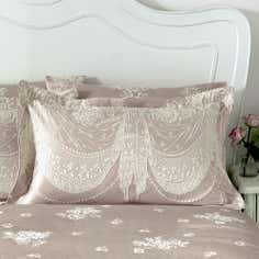 Dorma Pink Lucille Collection Oxford Pillowcase