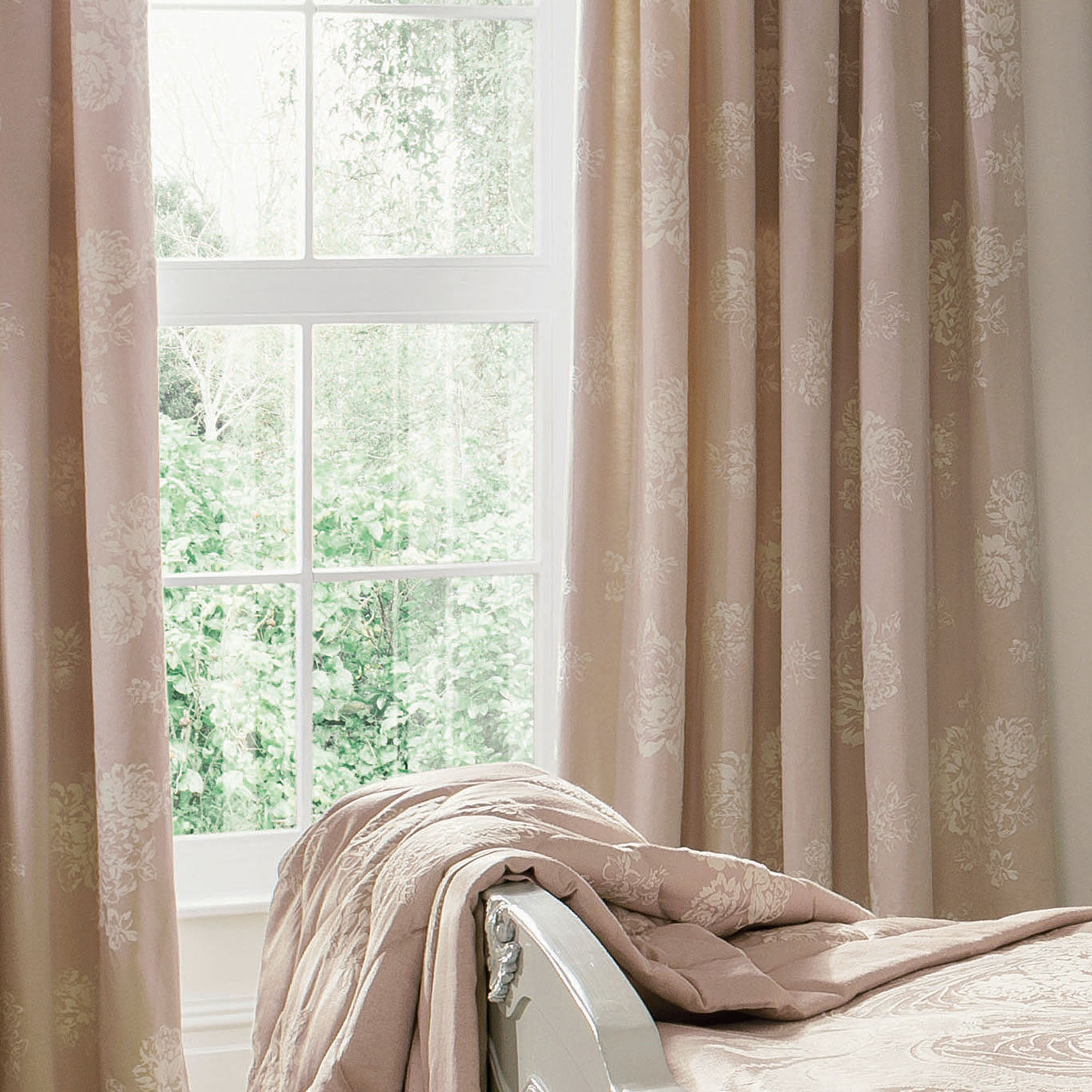 Dorma Pink Lucille Lined Pencil Pleat Curtains