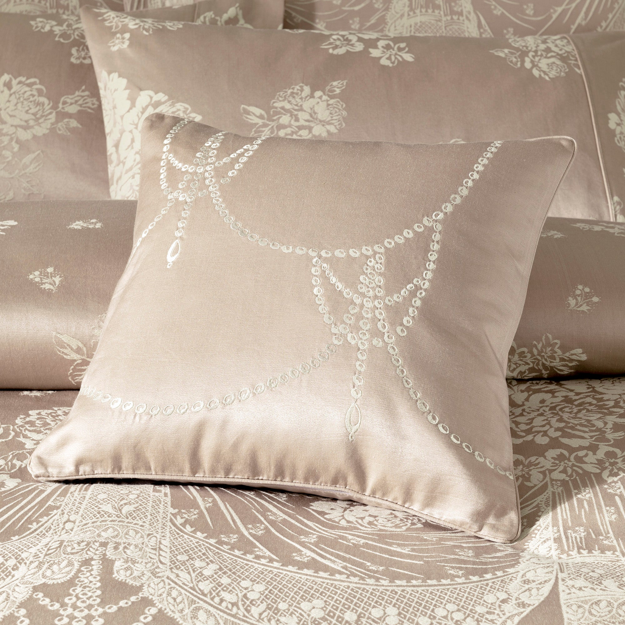 Dorma Pink Lucille Collection Cushion