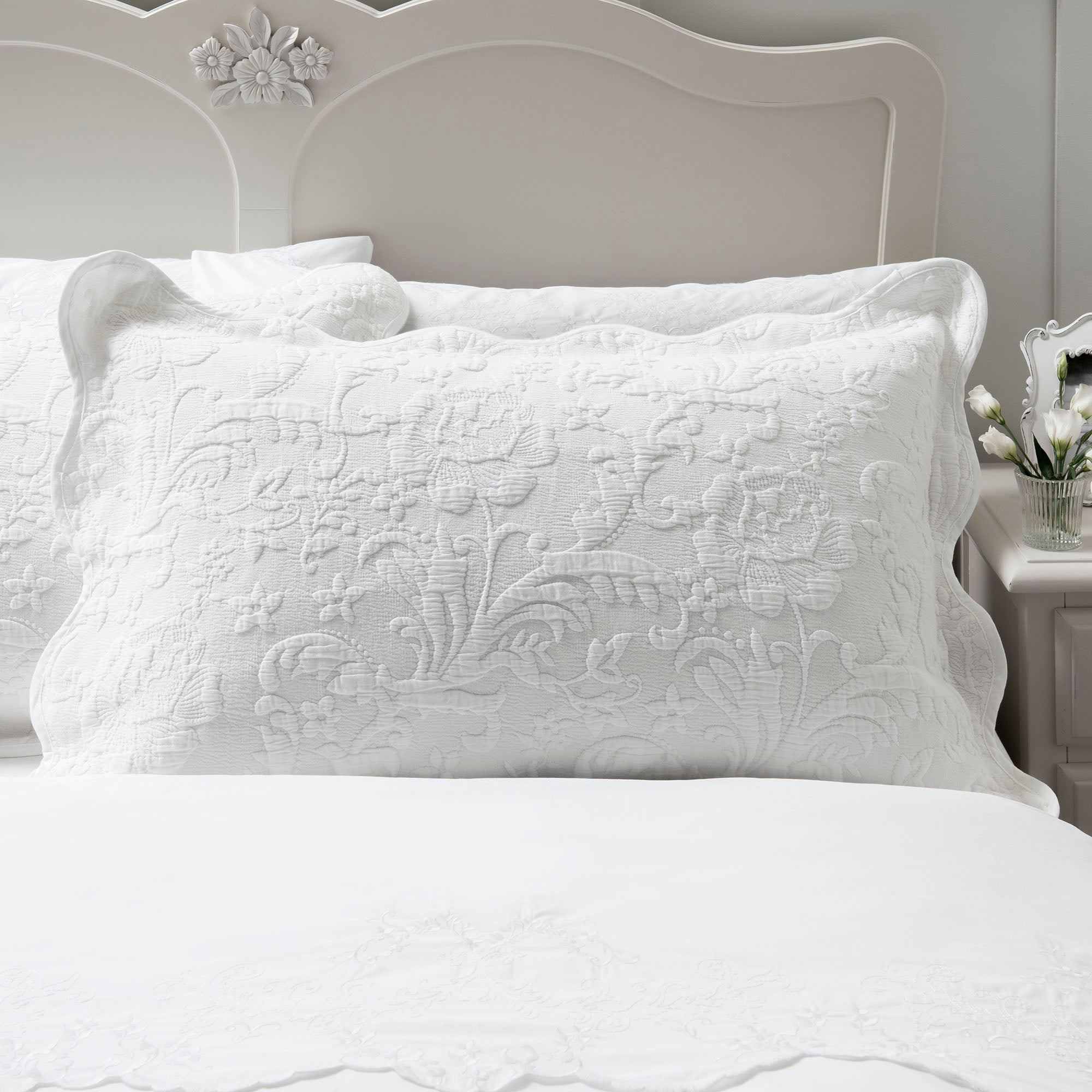 Dorma White Provence Collection Pillow Sham