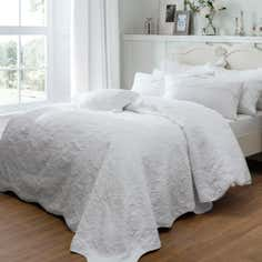 Dorma White Provence Collection Bedspread