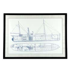 The Hamptons Collection Boat Framed Print