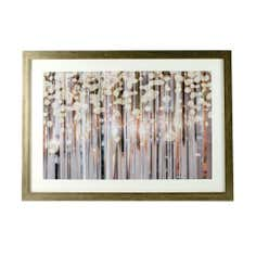 Golden Blush Abstract Framed Print
