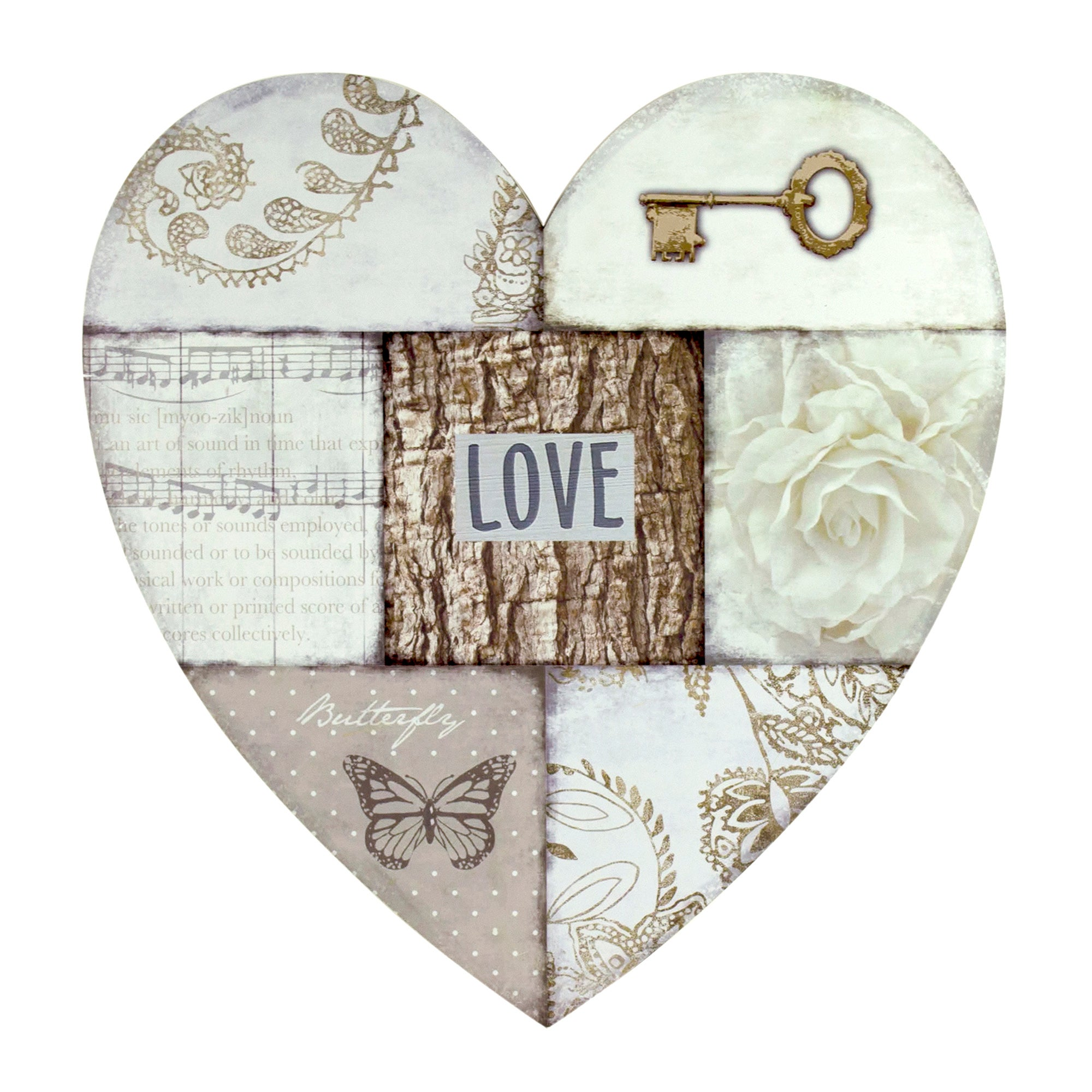 Love Heart Collage Wall Art