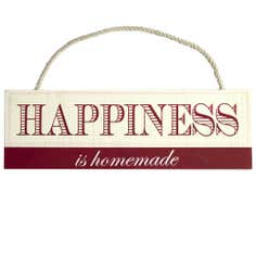 Happiness Wooden Plaque