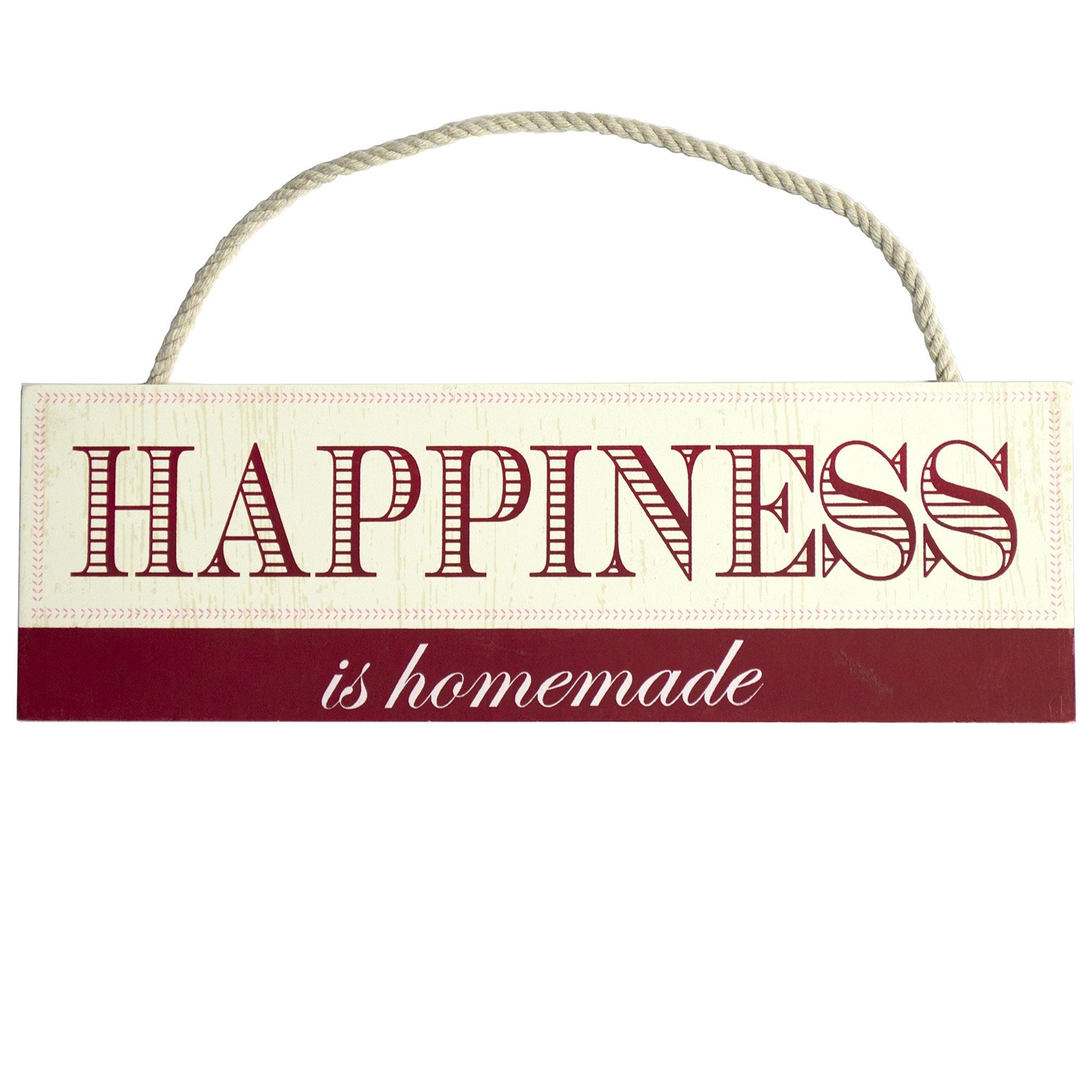 Happiness Wooden Plaque
