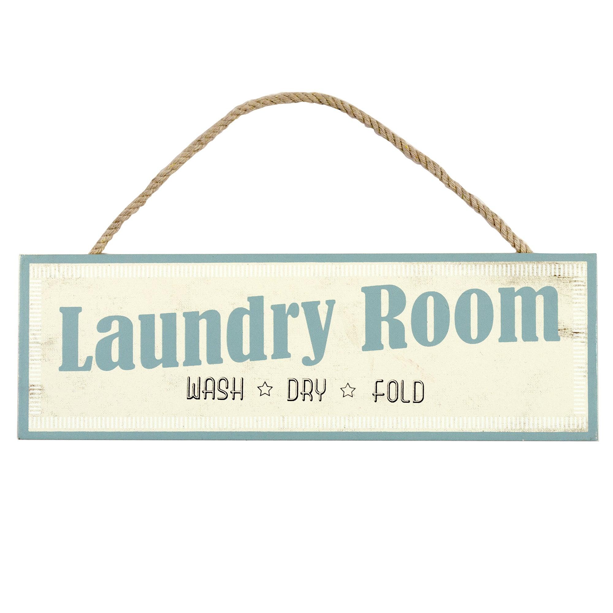 Laundry Room Wooden Plaque