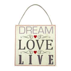 Dream Love Wooden Plaque