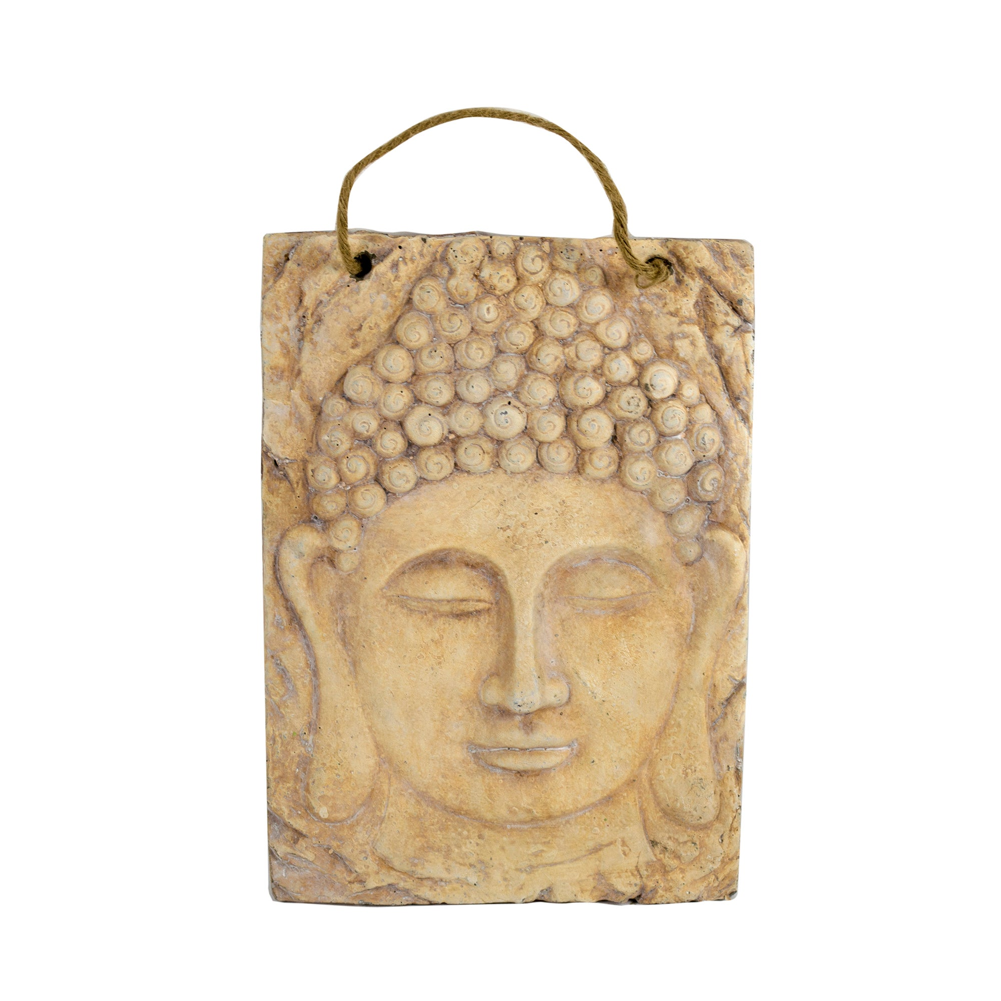 Buddha Face Stone Hanging Wall Art