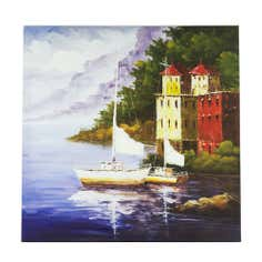Boat Seascape Printed Canvas