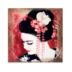 Geisha Side Profile Printed Canvas
