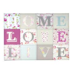 Home Love Live Printed Canvas