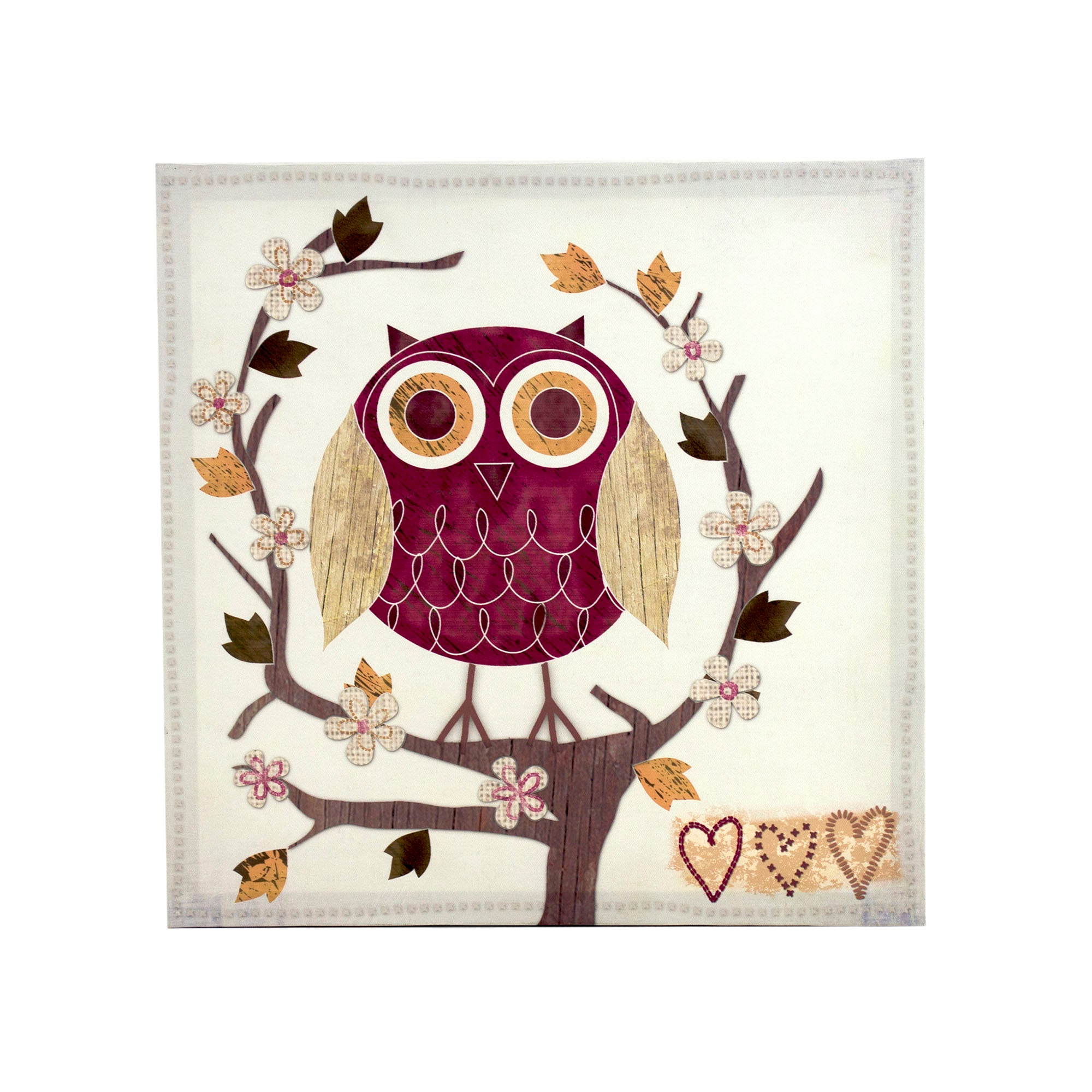 Owl Printed Canvas