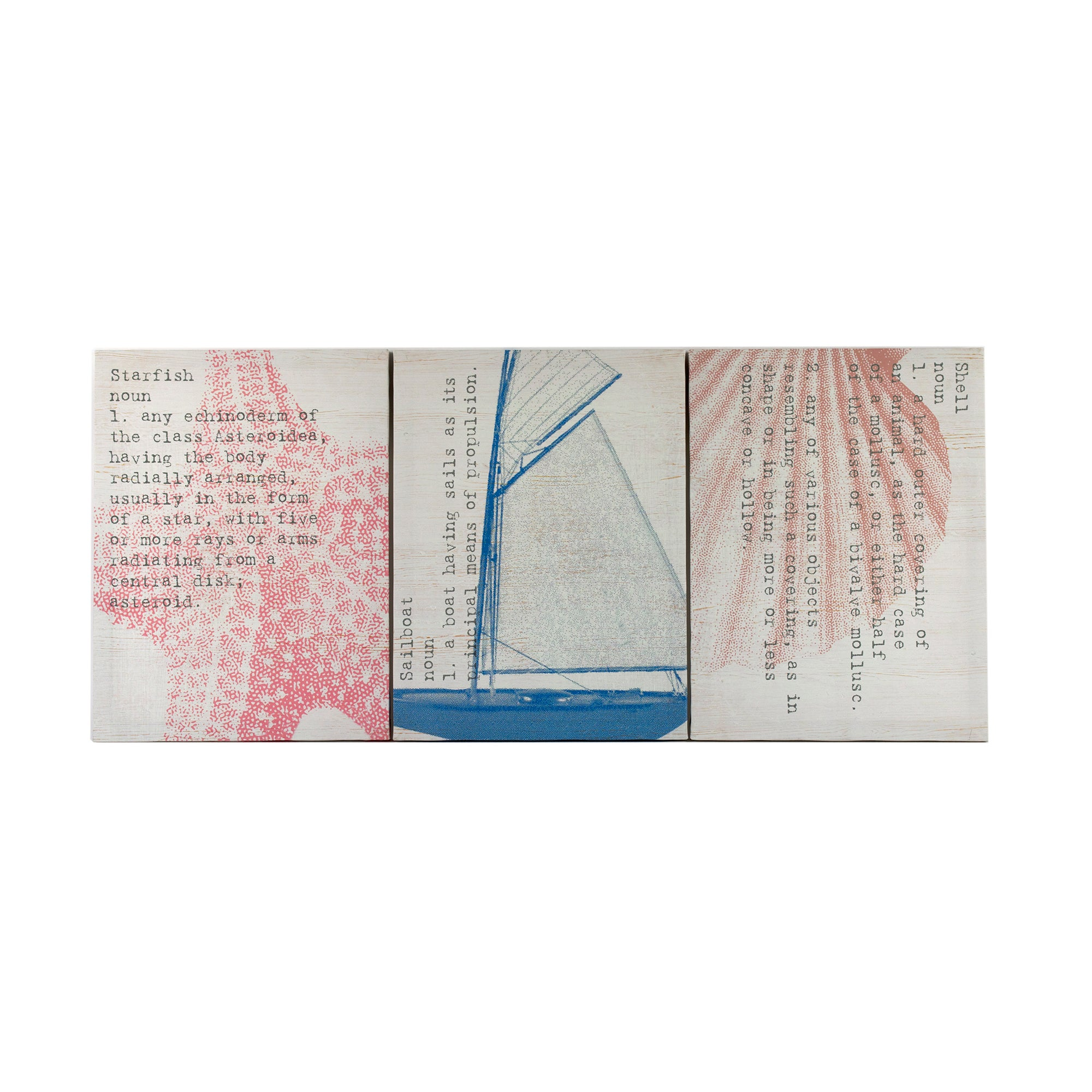 The Hamptons Collection Set Of 3 Printed Canvases