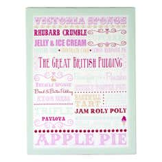 Puddings Printed Canvas