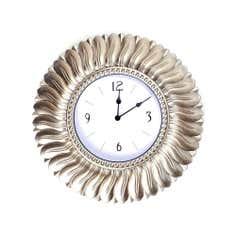 Champagne Round Leaf Clock