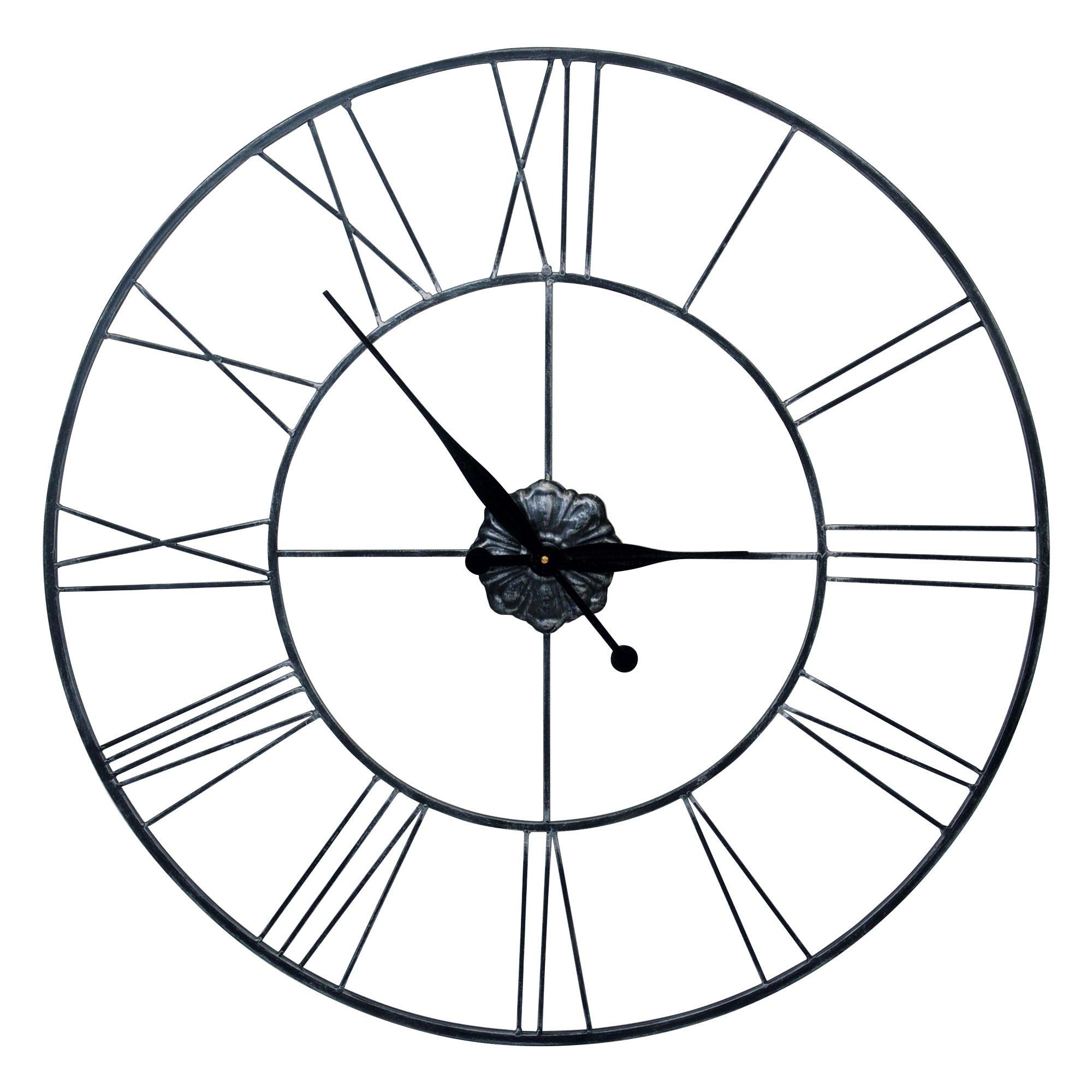 Roman Numeral Metal Clock Dunelm