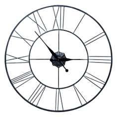 Roman Numeral Metal Clock