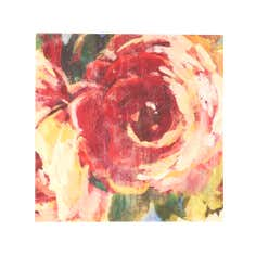 Rose Floral Printed Canvas