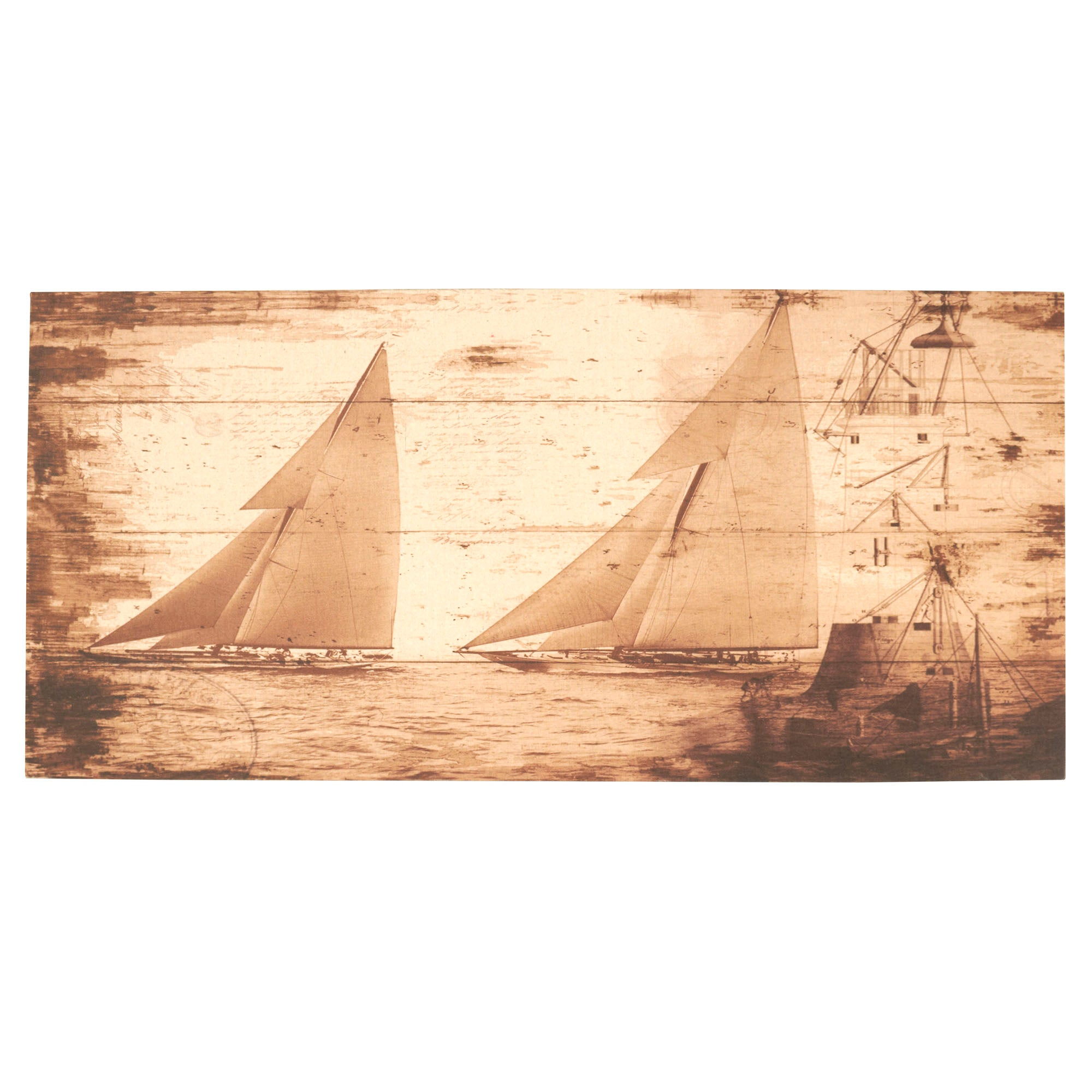 Boat Printed Linen Canvas