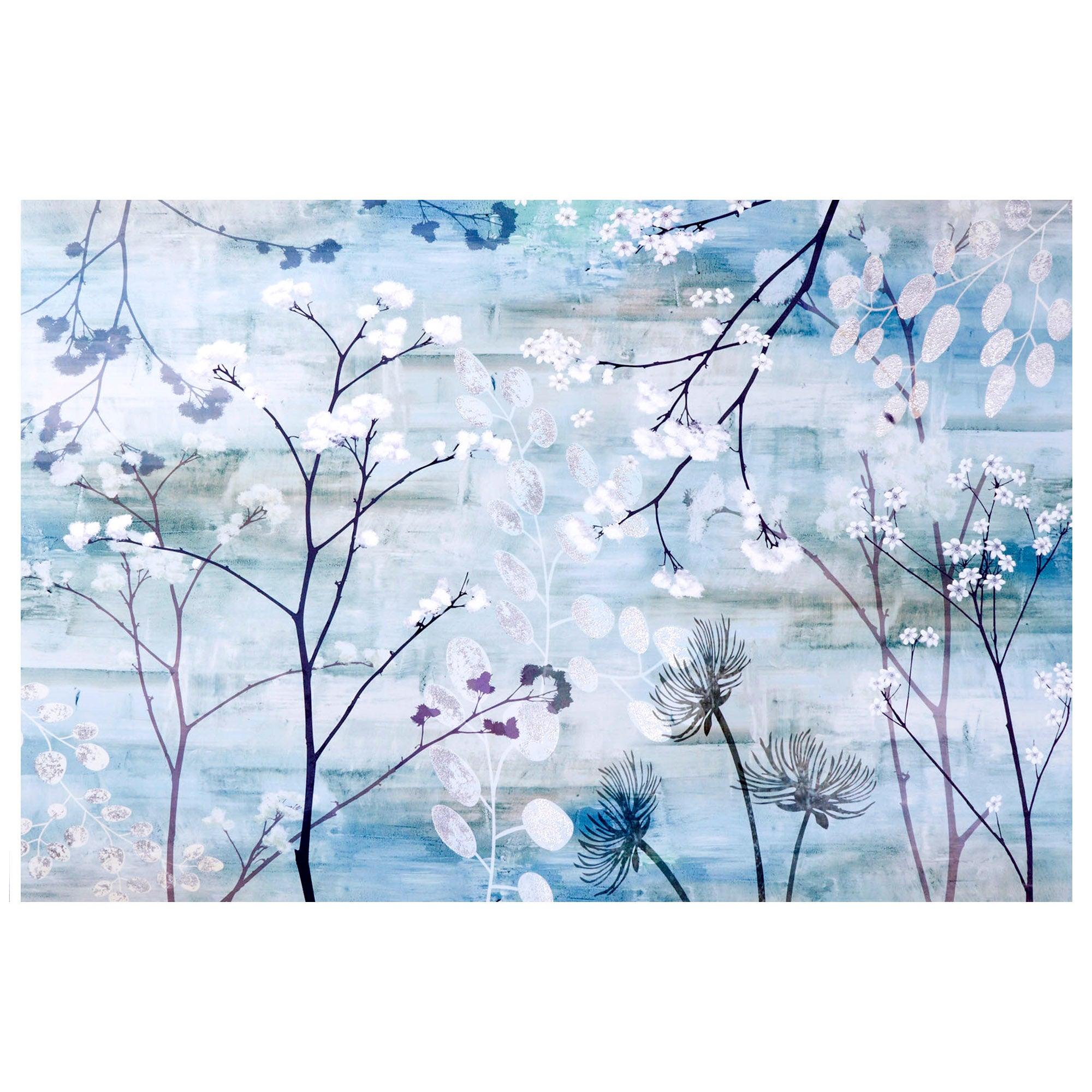 Foil Flower Printed Canvas