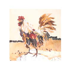 Rooster Printed Canvas