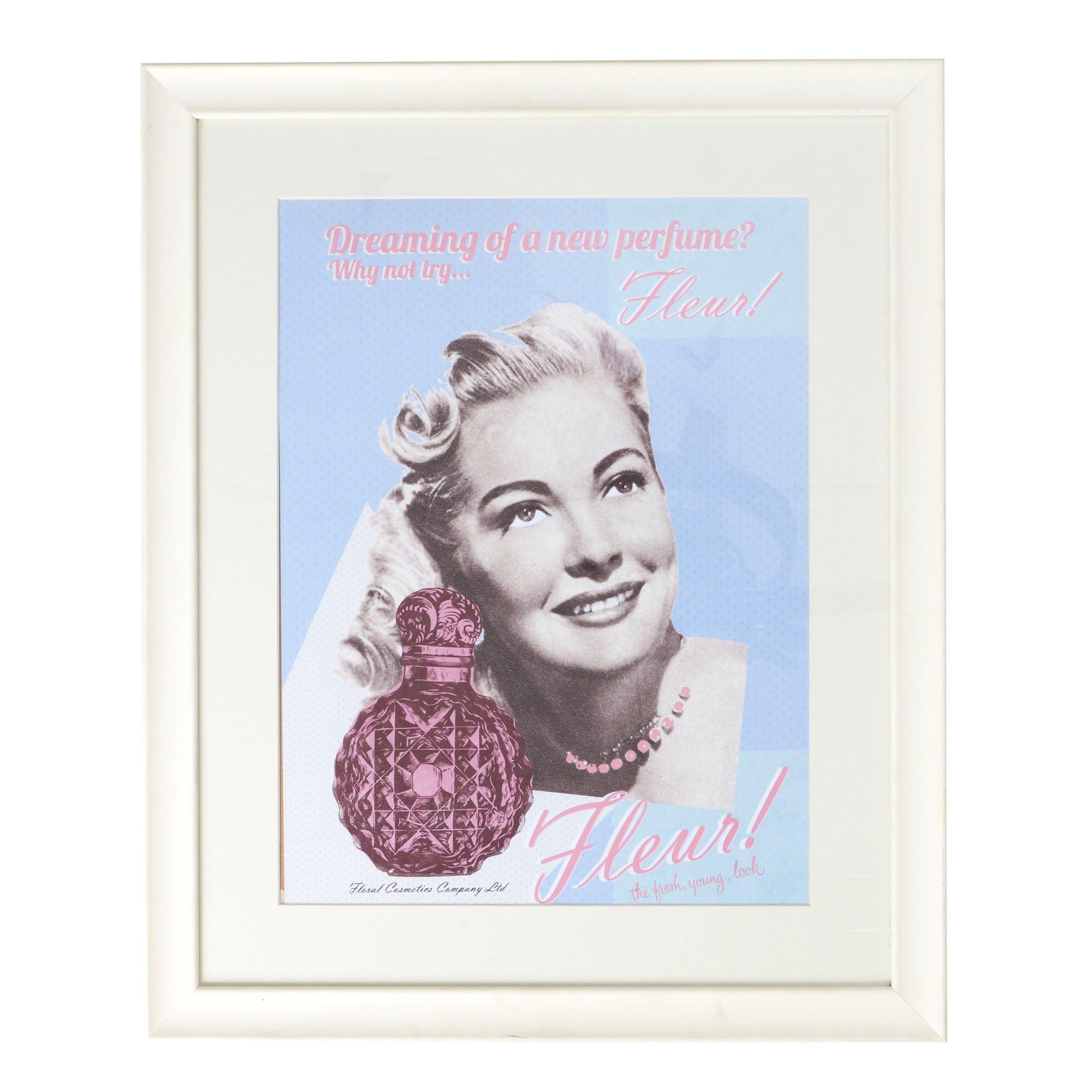 Vintage Perfume Framed Print