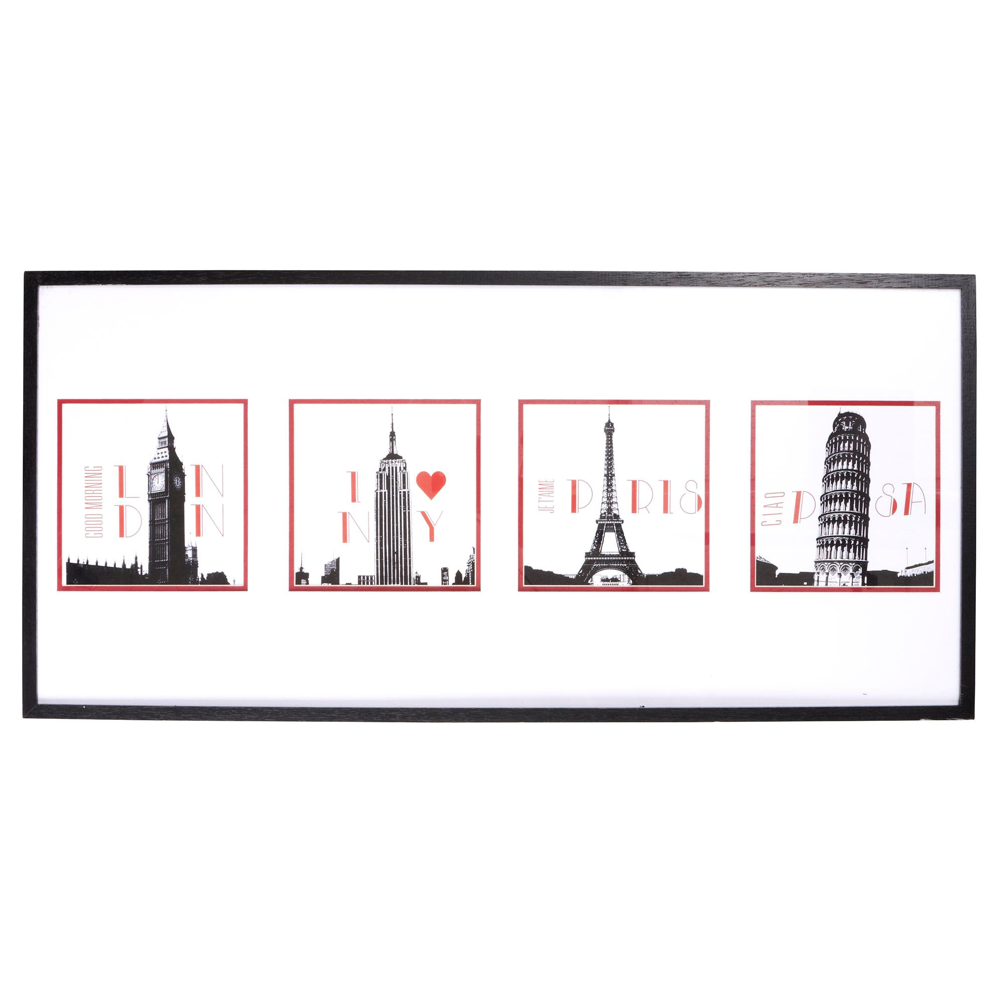 Four Cities Framed Print
