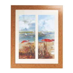 Duo Beach Scene Framed Print