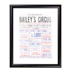 Baileys Circus Framed Print