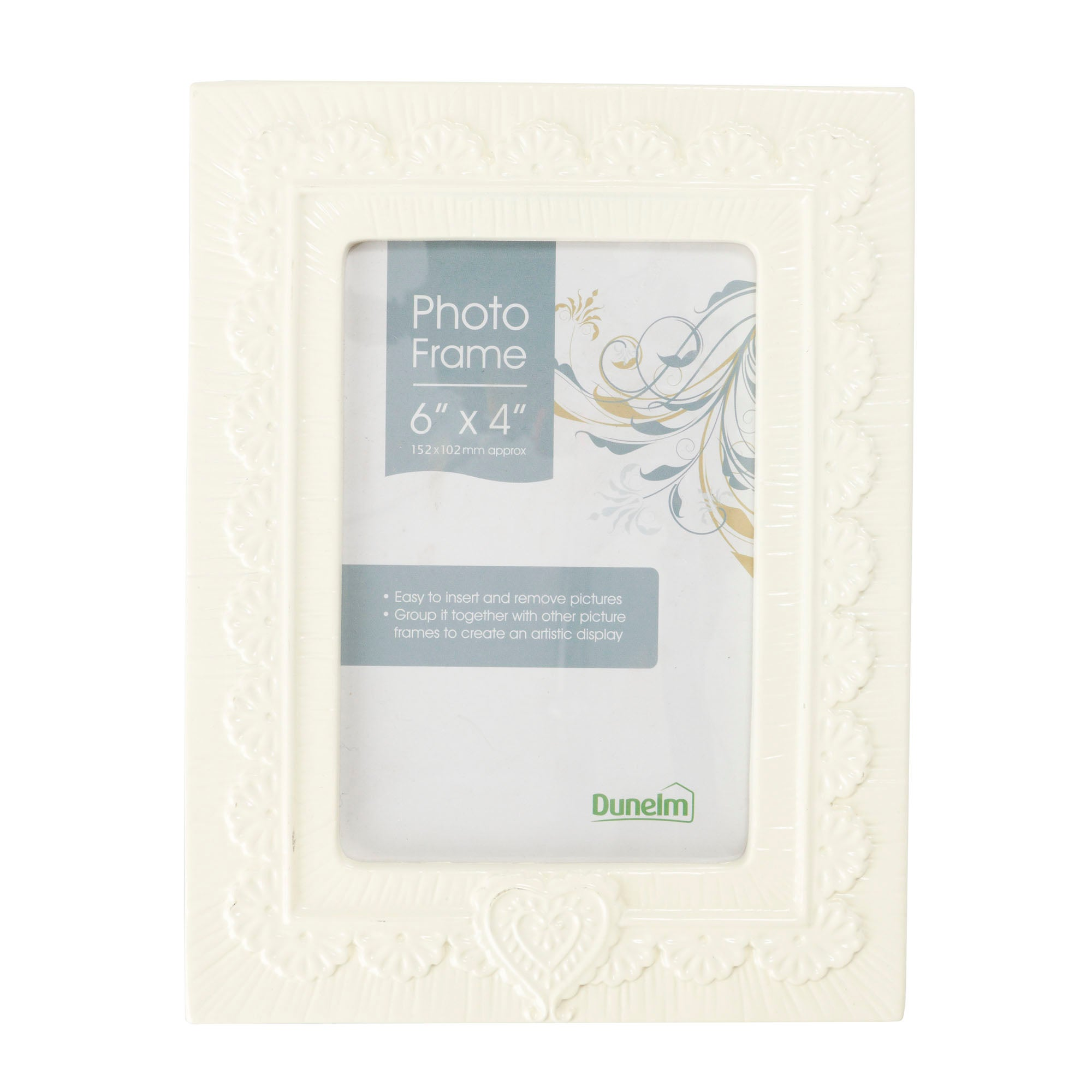 Cream Ceramic Photo Frame