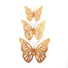 Set of 3 Bronze Butterflies