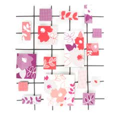 Printed Floral Metal Wall Art