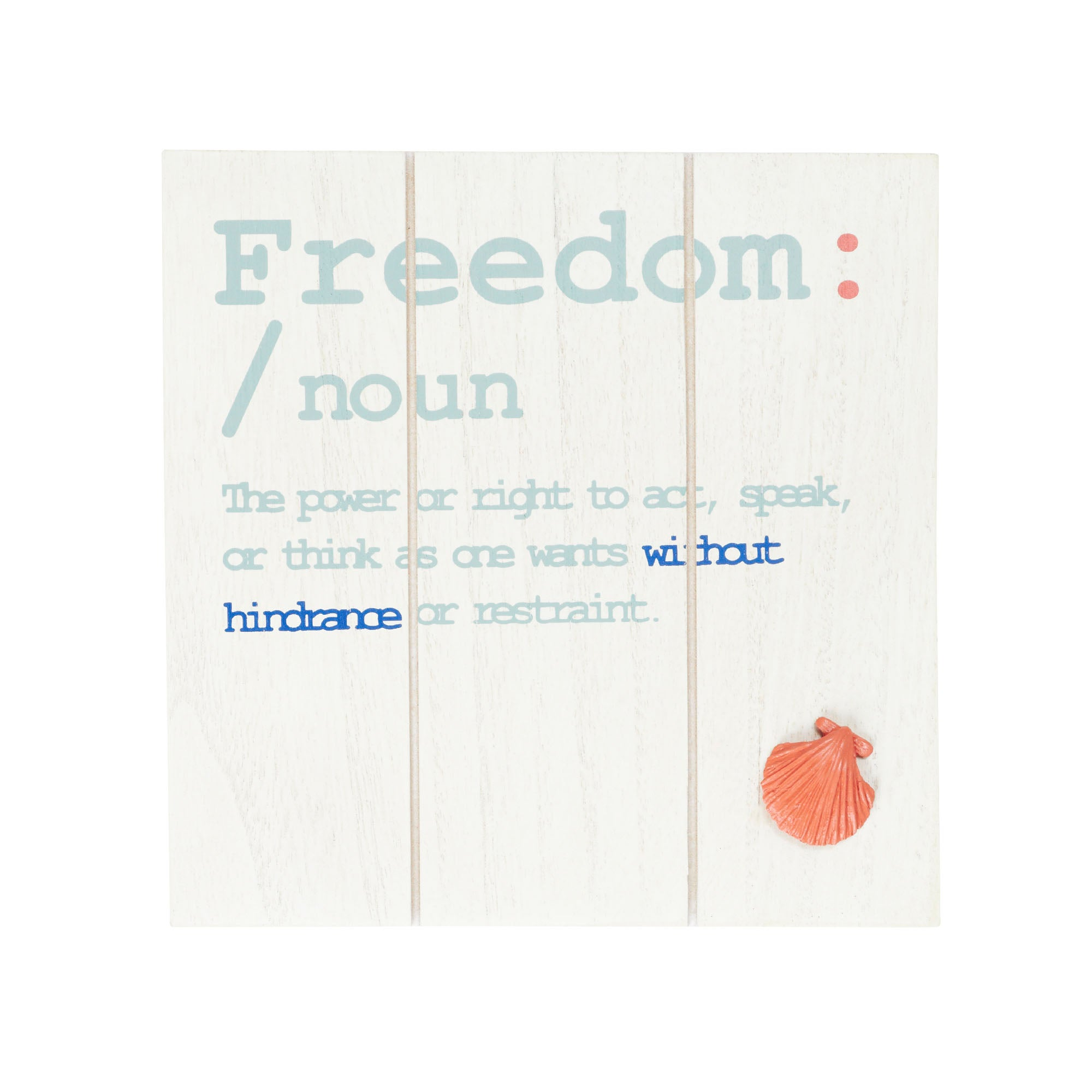 Freedom Wood Hanging Plaque