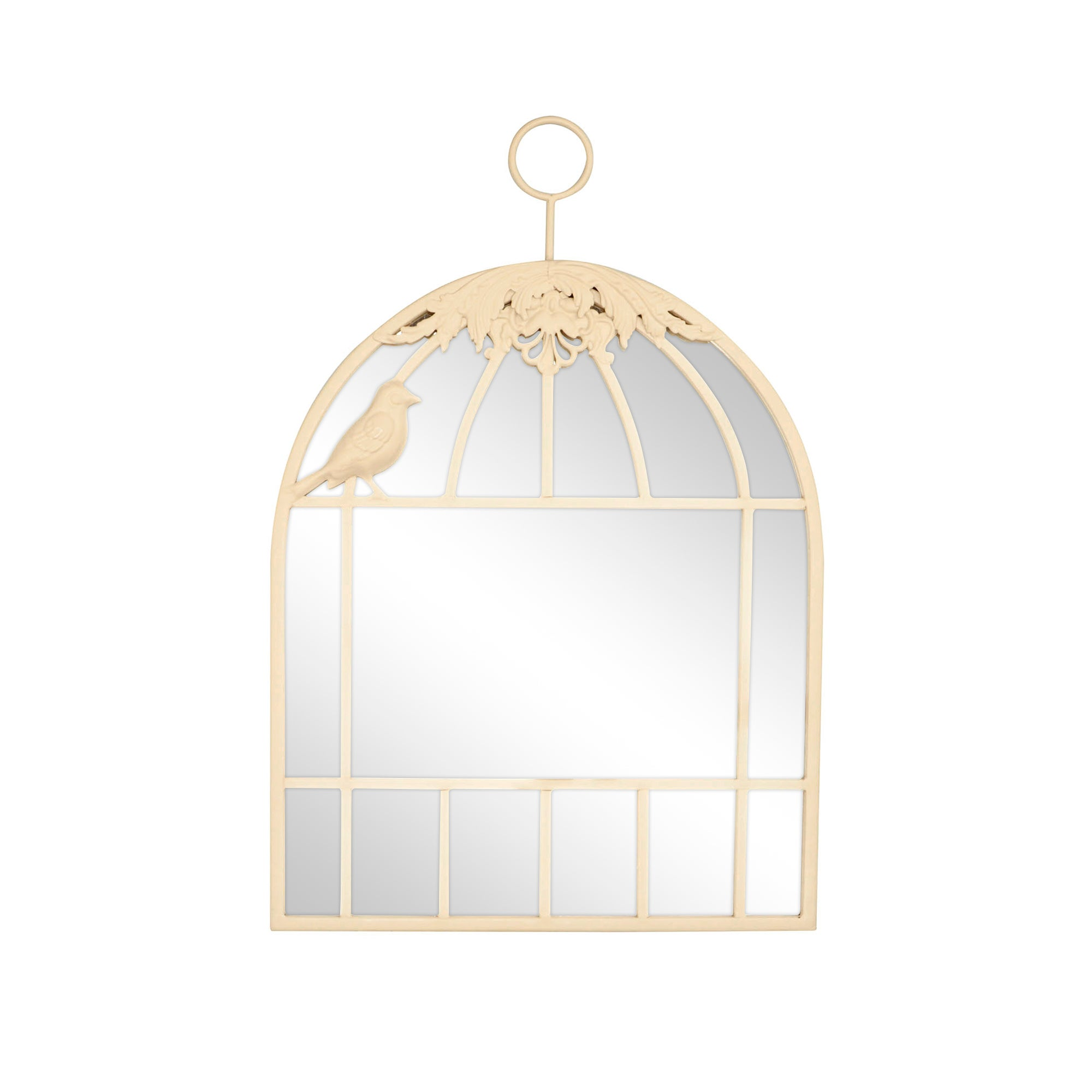 Cream Birdcage Mirror