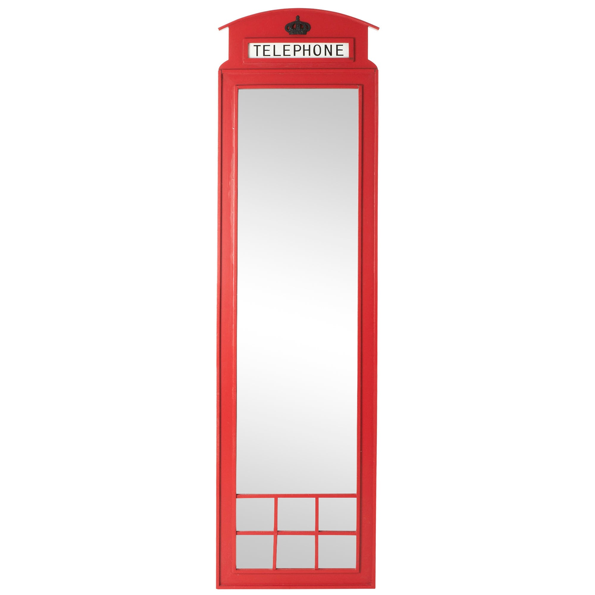 Telephone Box Wall Mirror