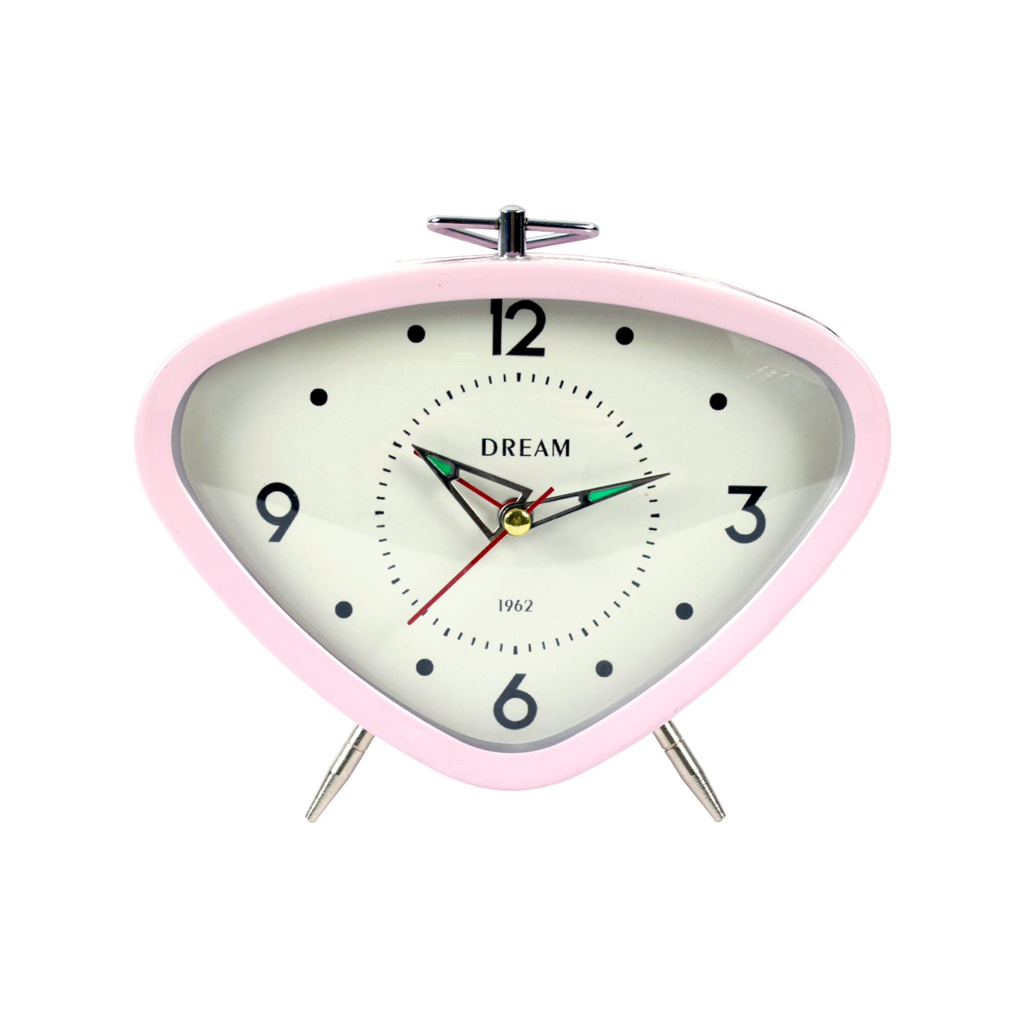 Candy Rose Collection Pink Retro Clock