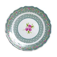Candy Rose Collection Floral Round Plate