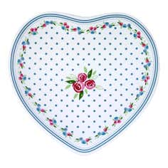 Candy Rose Collection Decorative Heart Plate