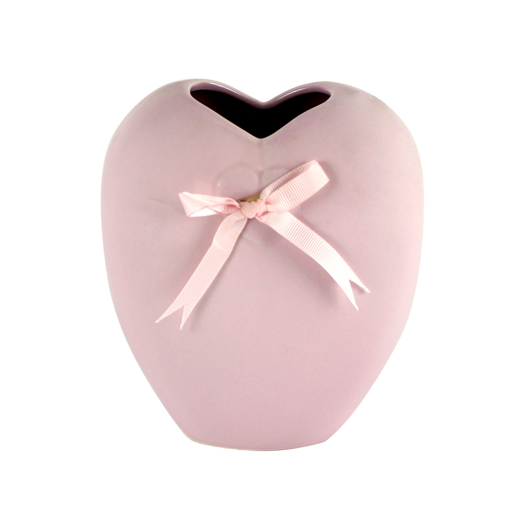 Candy Rose Collection Pink Heart Shaped Vase